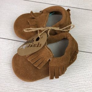 Other - Soft Sole Baby Moccasins Tan Brown 12-18mo.